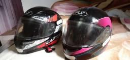 Vendo capacetes passo cartão Leia