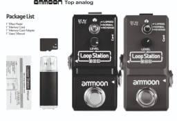 pedal loop station ammoon 3 modos de gravação(confira outros fotos outro itens)