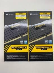 Memórias Corsair Vengeance LPX - 8 Gb - DDR 4 - 2400 MHz - Cl16
