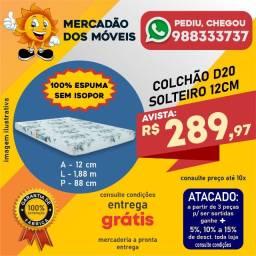 Colchão Solteiro D20 12cm 100% Espuma Em Promoção!!!