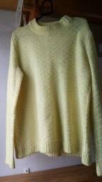 Suéter tricor amarelo