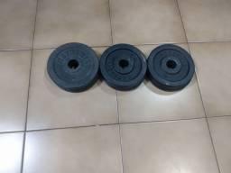 Kit 20kgs em anilhas