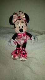 Minnie Mouse rara Disneslandia balharina rosa tutu chinelos 26cm