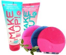 Kit Skin Care Esponja Elétrica + Sabonetes Dermachem Make Novo