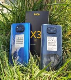Poco x3 128gb+6 nfc Índia Azul/Cinza