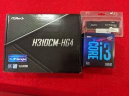 I3-9100F + AsRock H310CM-HG4 + 8GB ram
