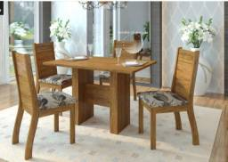 Título do anúncio: Mesa 120x80 com 4 cadeiras (garantia de 3 meses) NOVA / + informações no whats