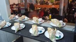 Loja de Shawarma montada