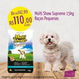-Ração multishow supreme para cães adultos raças pequenas 15kg