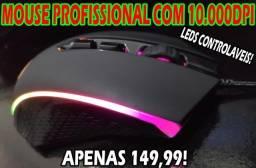 Mouse Gamer Original Redragon Incríveis 10.000Dpi RGB Controlável!