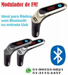 Transmissor Fm Veicular Com Bluetooth Cars7 Carro Mp3 Usb