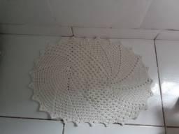 Tapete de crochê branco
