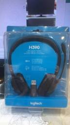 headset logitech h390 - lacrado para notbook ou computador.
