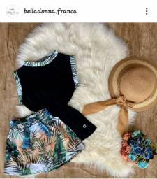 Conjunto short saia+ blusa