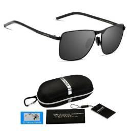 Óculos De Sol Quadrado Masculino Feminino Proteção UV400 Polarizado V2462 Original