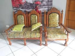 Sofá madeira colonial madeira maciça