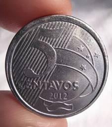 Raro item do ano 2012 50 centav0s sem zero