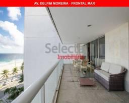 Apartamento de 170 m² na Av. Delfim Moreira, frontal mar, com linda vista panorâmica, no t