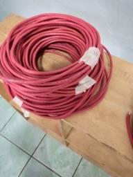 Cabos de internet vermelho cat6, marca Furakawa Gigalan STSU/UTP