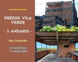 Prédio 3 andares , 8 quartos, 3 suítes, com varanda, Vila Verde, São Cristovão