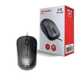 Mouse Usb Com Fio C3plus Ms-35