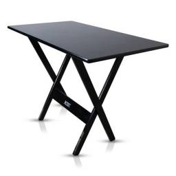 Mesa 1,20 por 70 madeira preta e imbuia