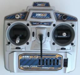Kit Rádio Hobbyking Hk6s + Receptor, C/ Bateria, Cabo Simulador