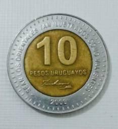Moeda de 10 pesos uruguaios comemorativa