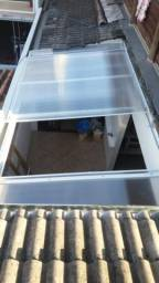 Coberturas em policarbonato e vidro