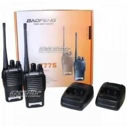 Kit 02 Radio Comunicador com alcance 4km (Novo) amplificadores