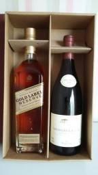 Whisky Johnnie Walker e Vinho Tinto seco