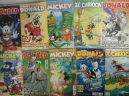 10 Quadrinhos Mickey, Pato Donald e Zé Carioca