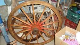 Carroça Carreta Antiga De Boi Roda Vintage