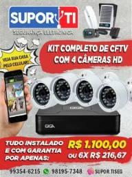 Câmeras de segurança,HD - instaladas (veja no cel)