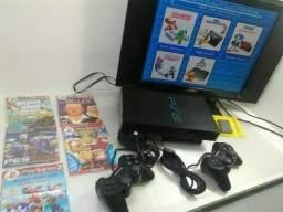 Playstation ll Fat Desb/ +5000 Jogos ll Controles Semi Novo