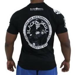 Camisetas Black skull em dry fit