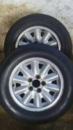 2 rodas ómega aro 15 (vendo ou troco)