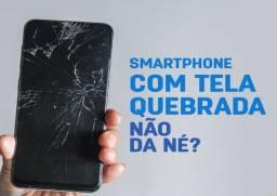 Troca de vidro e tela de celular