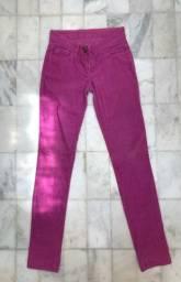 Calça feminina rosa
