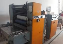 Maquinas gráficas impressoras e guilhotina