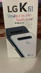 LG k61 cor branco 128 gigas novo 1ano de garantia possui nota fiscal