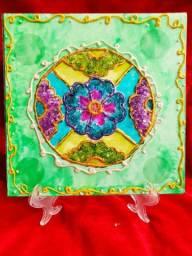 Mandala em vitral