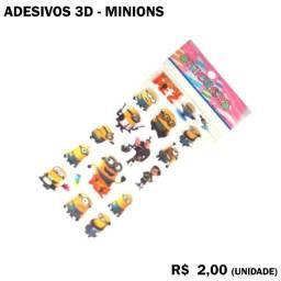 Cartela de Adesivo 3D Minnion