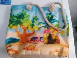 Bolsa de Praia com alça de corda