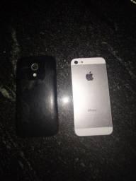 Vendo Moto G1 16gb e iPhone 5 16gb