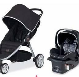 Carro de bebê Britax Agile System com acessórios