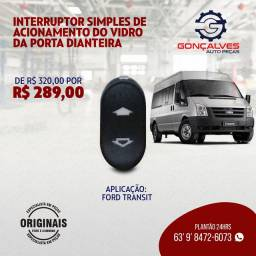 INTERRUPTOR SIMPLES DO ACIONAMENTO DO VIDRO DA PORTA DIANTEIRA ORIGINAL FORD