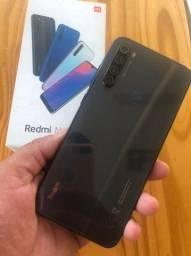 Redmi note 8 T de 32gb com biometria e desbloqueio facial com caixa e acessórios