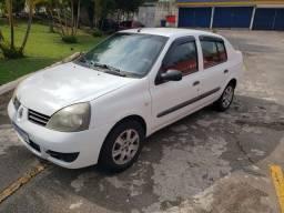 Clio sedan 2008 flex completo + airbag.