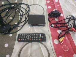 Conversor digital e antena 120 reais